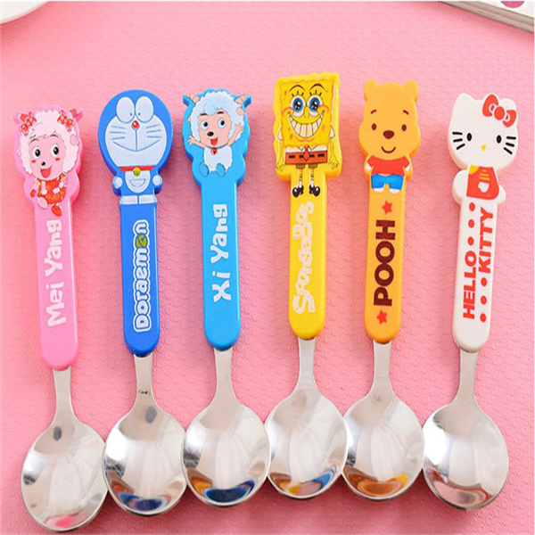 Decorative spoon Cheap stainless steel spoon Silicone spoon for kids