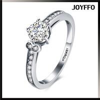 Noble Jewelry Fashion Silver Plated Emerald zircon wedding rings women size 6-9