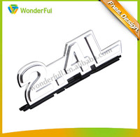 Common Auto & Motor Accessories Custom Made Accepted Strong Adhesive And Car Decoration Use Chrome Plastic 2.4L Trunk Emblem