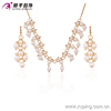 63404-xuping fashion pearl earring pearl jewelry set, special design pearl bead jewelry ,18k gold plated african fashion jewelr