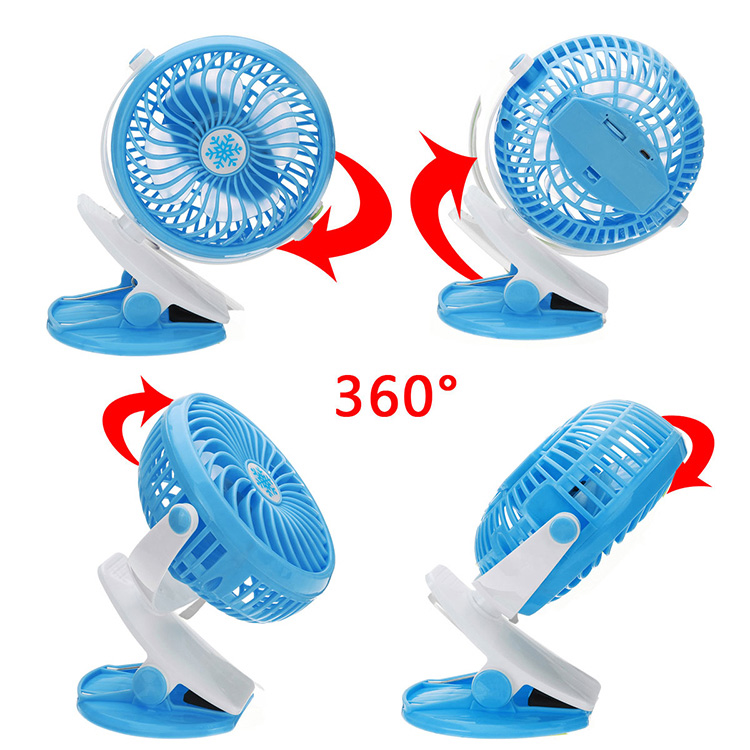 Summer Cooling Battery Operated Clip on Portable Stroller Fan