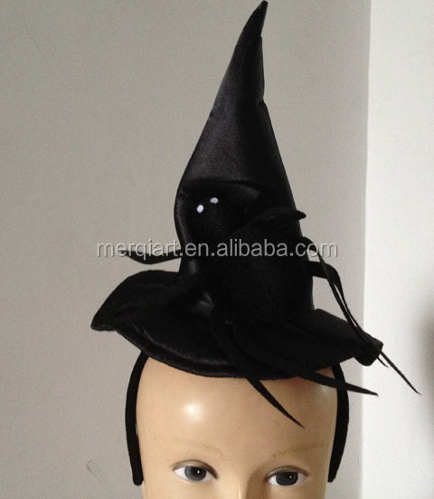 New halloween witch min hat on headband fancy address accessory with spide accessory