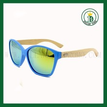 100% handmade Blue frame PS 50074 natural bambool legs fashion sunglasses