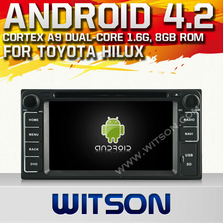 WITSON ANDROID 4.2 TOYOTA UNIVERSAL NAVIGATION WITH A9 DUAL CORE CHIPSET DVR SUPPORT WIFI 3G APE MUSIC BACK VIEW