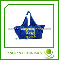 High popular polyester cute foldable shopping bag