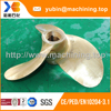 High speed fixed pitch marine 3 bladed brass propeller
