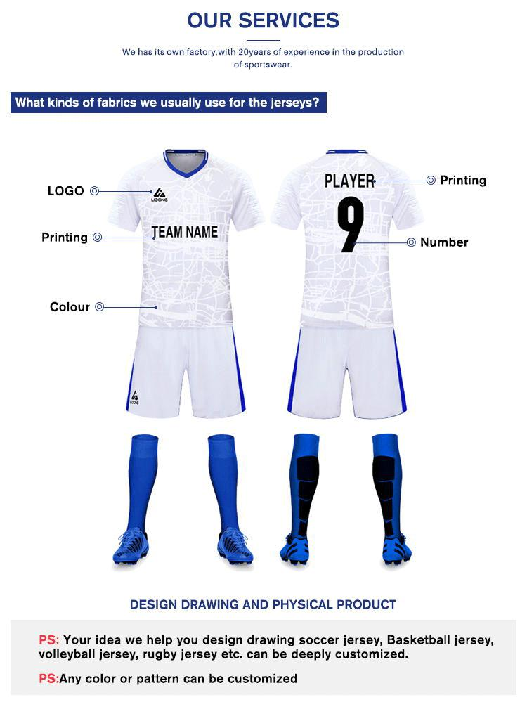 Design blank jerseys kids soccer jerseys team training football uniform soccer wear wholesale sublimated cheap football shirt