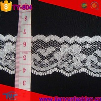 cheapest decoration fabric none elstane offwhite wholesale nylon lace trim