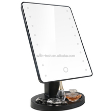 vanity table with lighted makeup cosmetic mirror with light
