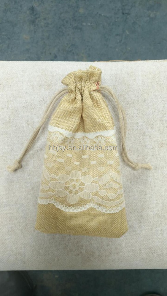 custom printed logo jute fabric dog food packaging bag jute mesh bags for cat food packing