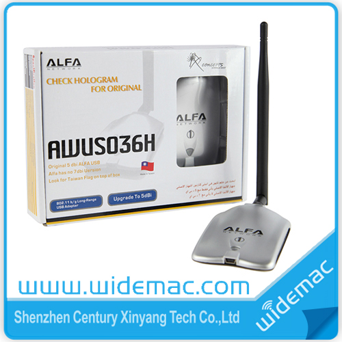 Realtek8187L Long Ranger Alfa AWUS036H usb wireless adapter with 5&8dBi Antenna