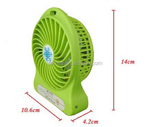 Promotional foldable mini 4 inch usb rechargeable fan with strong wind