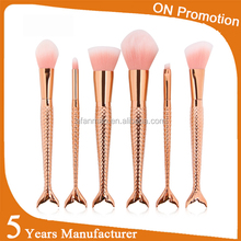 2017 best selling products Custom LOGO Fish makeup <strong>brush</strong> professional cosmetic <strong>brush</strong> Pirvate Label oval makeup <strong>brushes</strong>