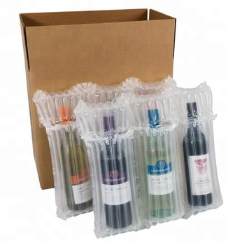 Inflatable Triple Wine Bottle Air Bag Column Packaging
