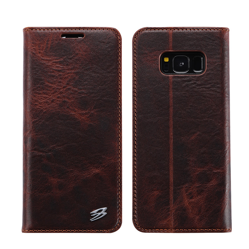 for samsung galaxy s8 case genuine leather wallet case