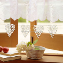 Laser cutting customized ornament heart shaped hanging ideas decorating glass ornaments