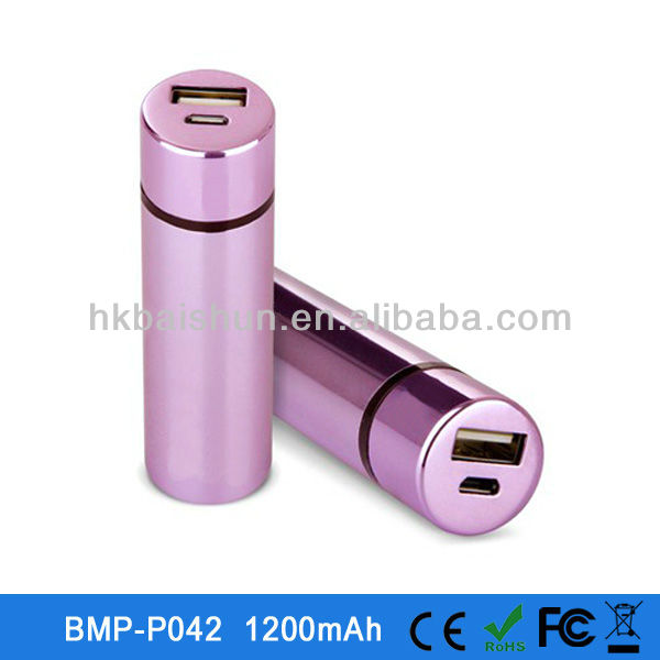 2013 Best Selling 5V Charging Mobile Power Bank 1200mah for Samsung galaxy s3/s4/note2