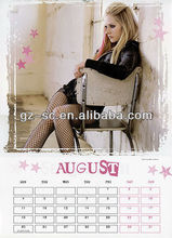 Guangzhou OEM Unique personalised photo calendars A3 size in customized design