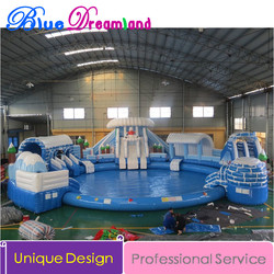 adult size inflatable water slide Children and adult PVC Inflatable swimming pool inflatable float