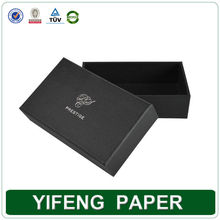 2015 Yifeng Paper Hot Stamping Logo Black Antique Style Ring Box