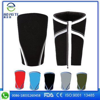 High Quality Custom Women 7mm and 5mm Sports neoprene knee sleeve orthopedic knee brace support
