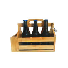 Natural wooden basket boxes wine barrel beer crate with home