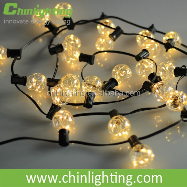 Decorative indoor use copper wire led string lighting, led light for christmas tree