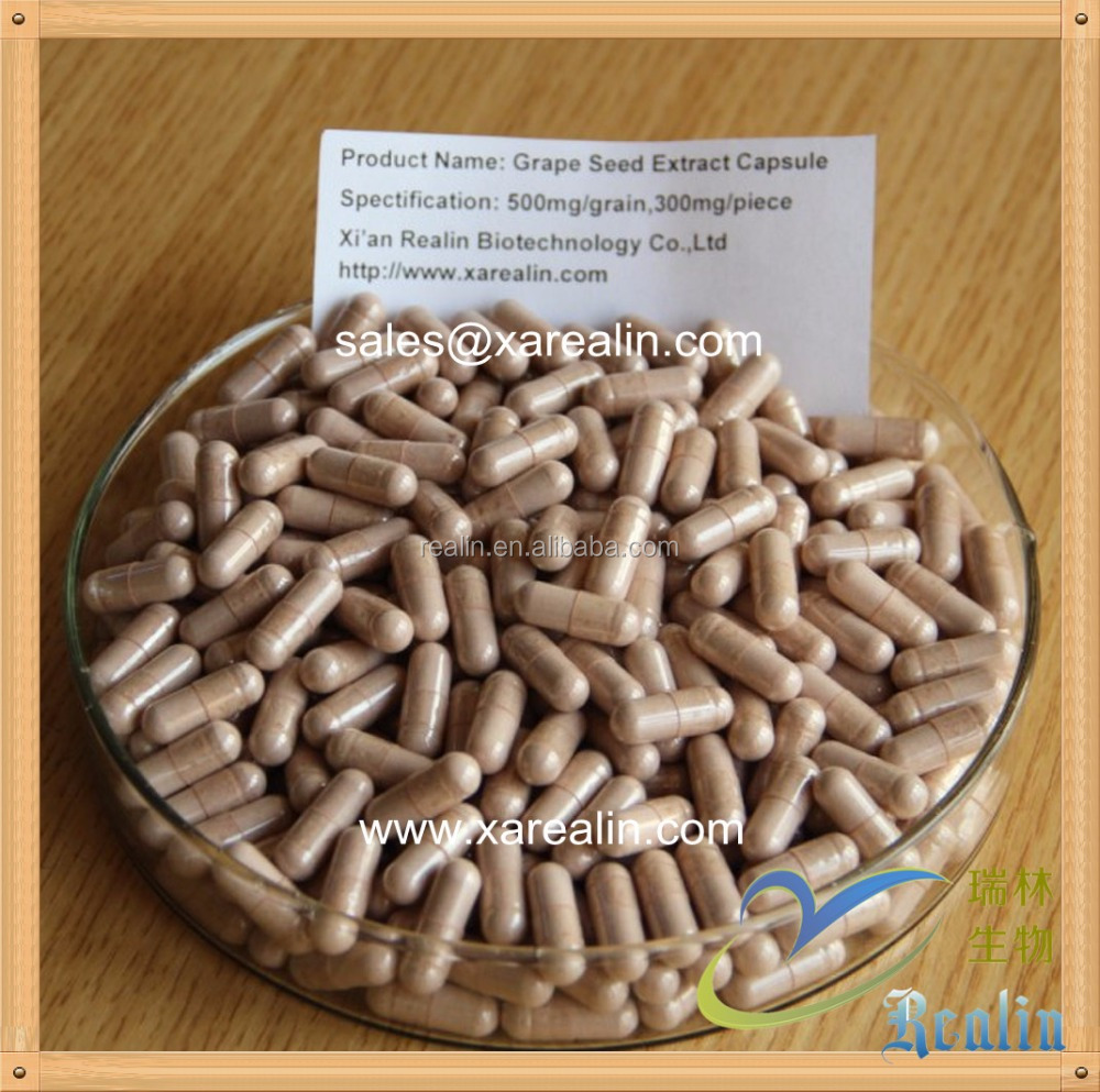Natural Grape Seed Extract OPC Proanthocyanidins 95% OEM Capsule