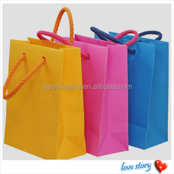 custom recyclable Kraft cloth packing gift paper handbag