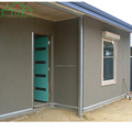 Low cost portable steel frame temporary labor camp house