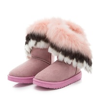 HFRTA121 2017 NEW Plush Inside Women Boots Warm Winter Snow Boots for wholesale