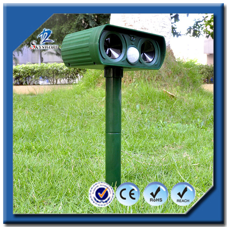 2016 China Manufacture Cat&Dog Repeller Powerful Effective Cat Dog Repeller With Solar Power