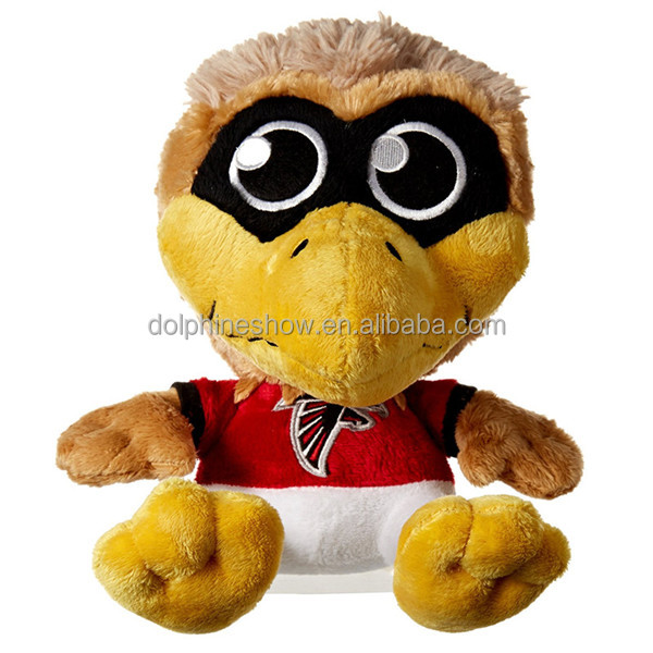Creative Game Mascot Hawks Falcon Bird Plush Toy Wholesale Custom Printed LOGO Cute Stuffed Soft Bald Eagle Plush Toy