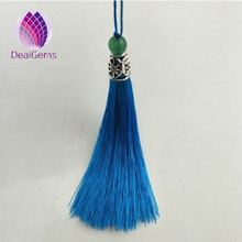 Wholesale fashion silk bead tassel fringe with pierced metal cap