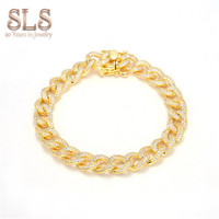 Factory wholesale algeria jewelry hip hop new model bracelet en or his and hers gold bracelets
