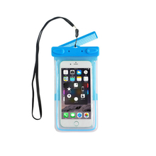 Universal Water Proof PVC Pouch Dry Bag Cover SmartPhone Case With Comb For Apple Iphone X 10 8 plus 7 7s plus 6 6s plus 5 5s SE