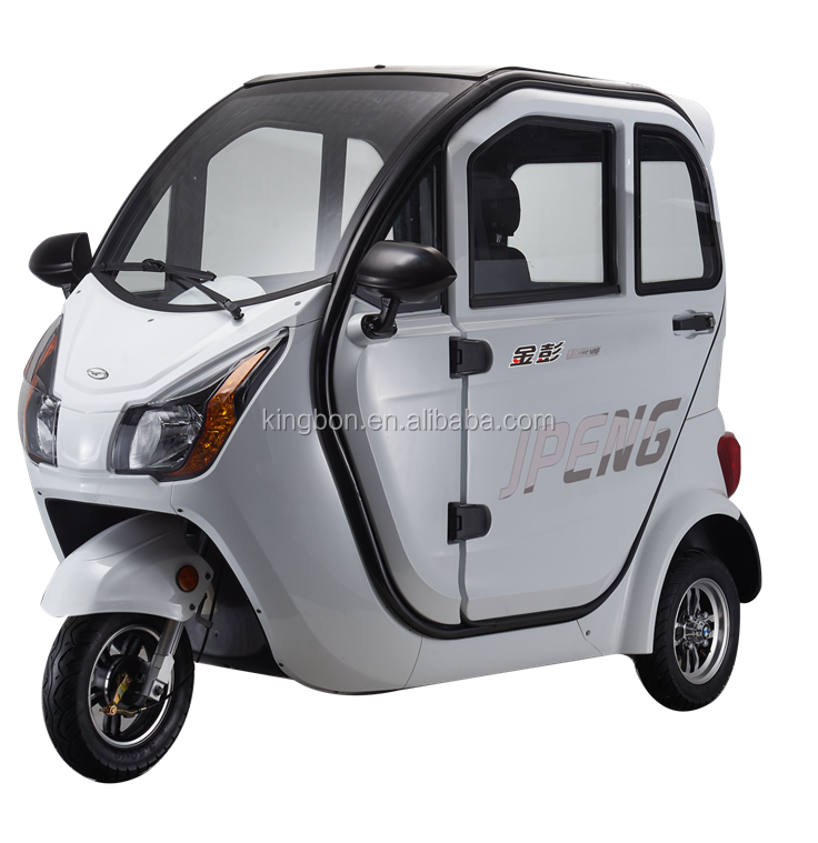 hot sale electric vehicle two seat with backrest scooter battery operated three wheeler tricycle