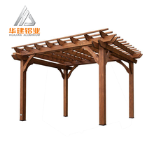 latest design powder coating modern aluminum metal outdoor garden balcony backyard pergola system with cheap price
