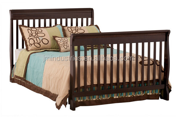 durable wooden baby crib/solid wooden bed/chinese wholesale furniture bedroom furniture