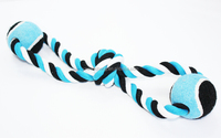Dog Chewable Rope Toy Pet Rope Tennis Ball