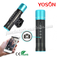 Outdoor cree aluminum alloy multipurpos flashlight with waterproof bluetooth speaker