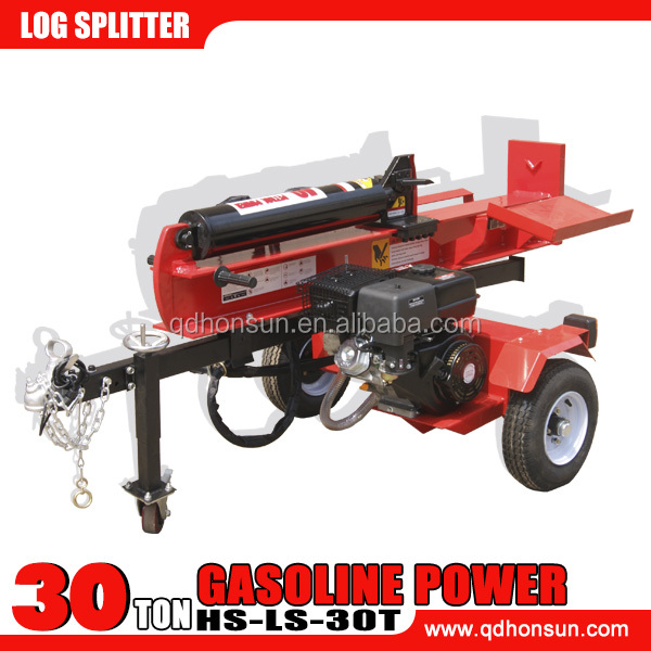 2014 China gasoline driven hydraulic gas powered 30 ton log splitter used