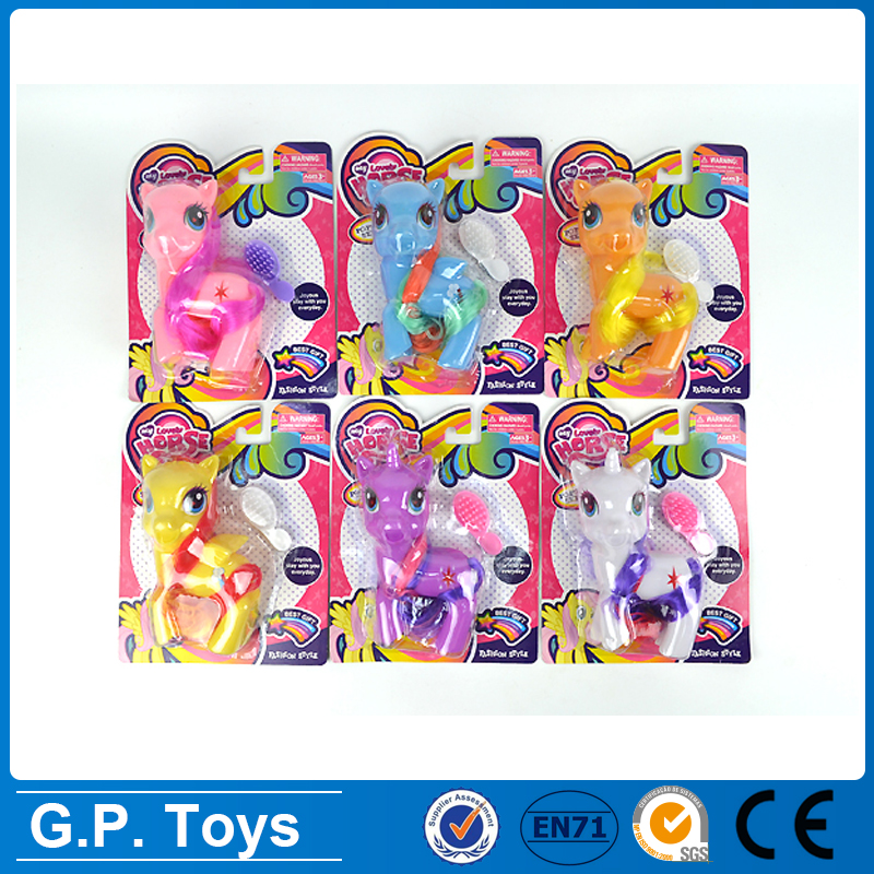lovely PVC soft plastic rubber horse toy