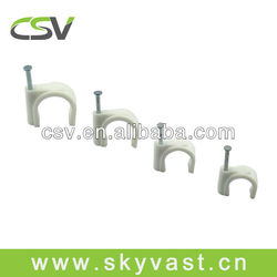 Round 5mm plastic wall cable clip