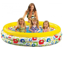 3rings cheap intex plastic inflatable baby kids child swimming pool for sale