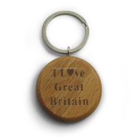 customize engrave logo key chain with king ring