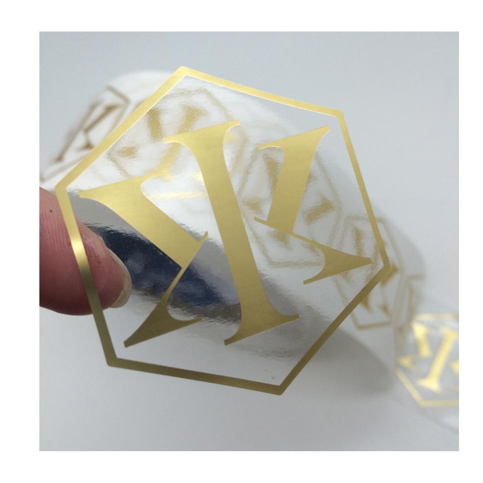 1000PC PVCSealing Label Sticker  30x 30mm Transparent new