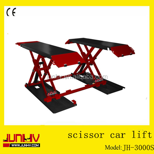 JUNHV Professional supply double scissor car lift JH-3000S/body repair with 2 years warranty