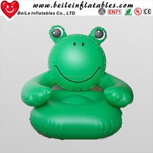 Lovely frog head kids inflatable chairs for promotion custom inflatable sofa
