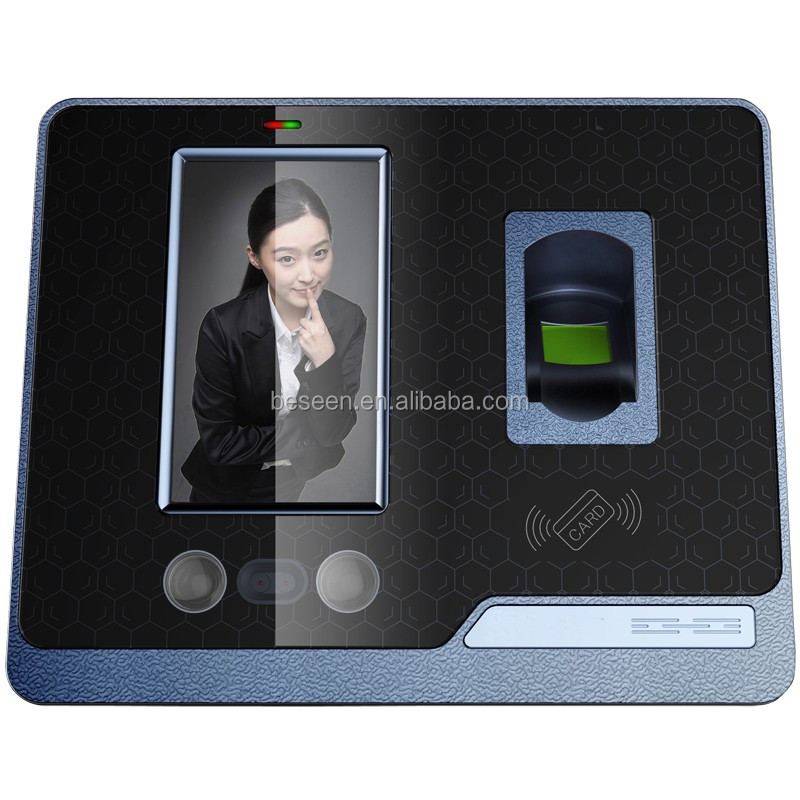 RFID infrared camera touch screen wifi realand biometric time attendance face recognition F500